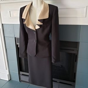 Gorgeous Classic Black & Gold Suit 4